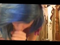 Blue haired babe blowjob. Date via DATES25.COM