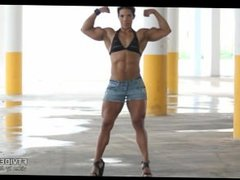 Muscled Chick Posing