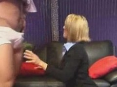 Milf with glasses blowjob. Solange from DATES25.COM