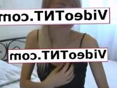 hot thin blonde webcam preforms very hot and sexy