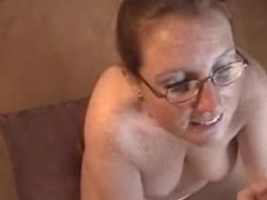 Matilda from DATES25.COM - Freckle wife blowjob and facial