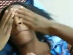 Ebony girl facial cumshot. Kendra from DATES25.COM
