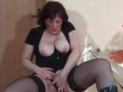 Rosanna from DATES25.COM - My sexy piecings milf in stockings with pierced nips n pussy
