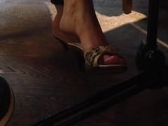 Hermila from DATES25.COM - Candid milf feet dangling shoeplay 1