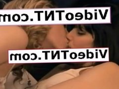 LEGGED BLONDE TEEN LESBIANS TONGUE KISSING IN TRANSPARENT BABYDOLLS