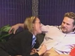 Milf with glasses blowjob. Donna from DATES25.COM