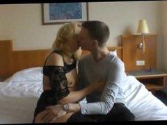 Amateur Blonde Mature having sex on cam
