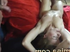 Wild milf misa gets splashed on tits in gangbang. Angelo from DATES25.COM