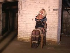 Crystal Frost chairtied and cleave-gagged