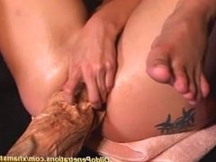 Leola from DATES25.COM - Extreme monster dildo anal mastrubation