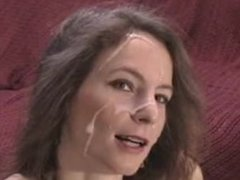 Amateur milf gets a facial cumshot. Mirta from DATES25.COM