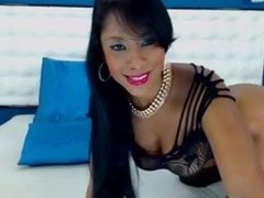 Lou LIVE on 720CAMS.COM - Sexy ebony in black lingerie teases on webcam