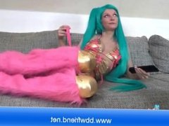 Green Hair Hot Babe for your masturbation