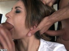 Valentina's sexy stockings anal adventure with two guys