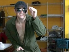 Latino Jock Flight Suit Strip n Jack
