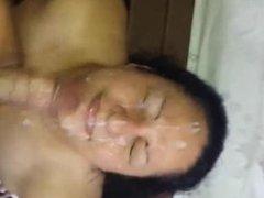 Horny Amateur babe POV Blowjob and facial