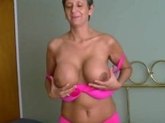 Sexy Grandmother With Big Boobs & a Shaved Pussy