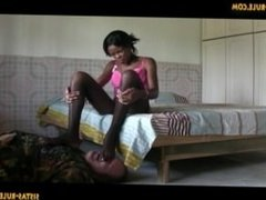 Ebony Stocking Footstool Smother