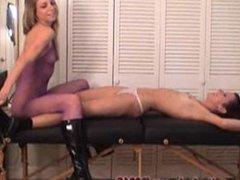 The Fetish Vault - Jessie Tickle Punishes her slave