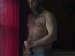 Verbal Bearded Daddy Jerks Off & Cums