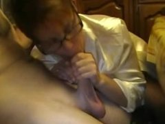 Granny Making Love to his Cock with her Mouth