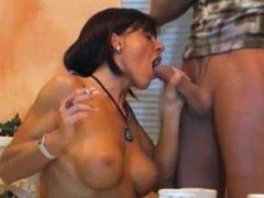 Smoking fetish-sexy lady smoking blowjob