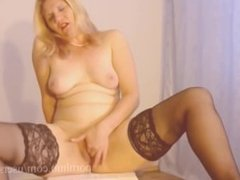 Blonde MIlf Caught Masturbation Loud Orgasm
