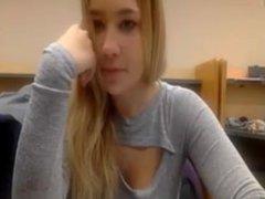 Public library webcam flashing boobs