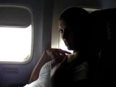 Girl masturbating on the plane [Go To PornLeech.com]