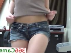 Teen Webcam Show at the Office - For more Visit 366Cams.com
