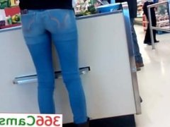 Tight Teen ass at grocery store Hidden cam - For more Visit 366Cams.com
