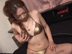 Naughty Sakura Hirota plays with her warm pussy