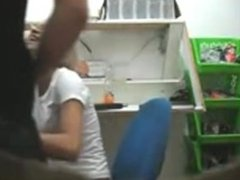 Shaniqua from DATES25.COM - Voyeur blowjob in the office