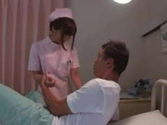 Japanese cute nurse loves having sex in the hospital
