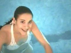 Public pool blowjob. Santana from dates25
