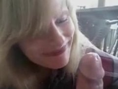 Brittanie from dates25 - Amateur milf blowjob and swallow