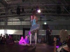 Brunette angel lights up the crowd
