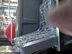 BLACK GUY JERKS AND CUMS ON CITY BUS