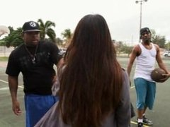 Mia K Roughed Up In Threesome With 2 Black Dudes