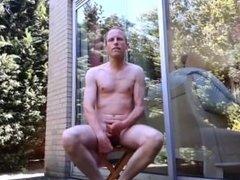 masturbating and cum outdoor