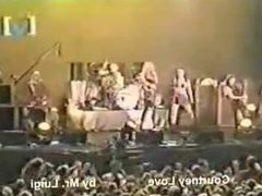 Courtney Love - Topless on stage