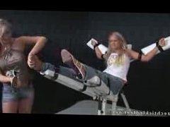HOT BLONDE SEXY FEET TICKLE TORTURE GIRL