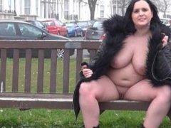 Naughty milf Sarah Janes public flashing and outdoor masturbation of exhibi