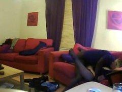 Rachel prise par un amant noir