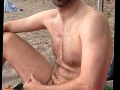 My Str8 Best Buddy Dared To Cum At The Beach.