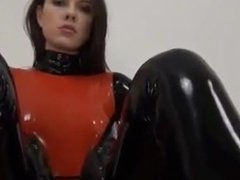 Rubber Tanja wear rubber doll outfit