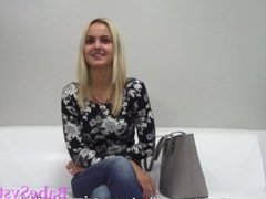 Blonde having a sexy casting