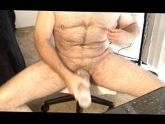 Working my Fleshjack on my pumped cock
