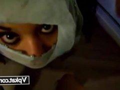 arab girl facialed