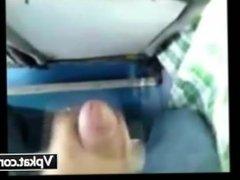 Arab Guy Jerk Off His Cock On Girls Hat In Bus